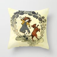 Puddle Hoppers Throw Pillow