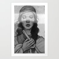 without seeing Art Print