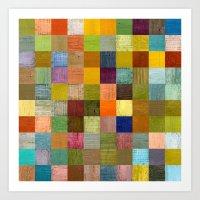 Soft Palette Rustic Wood… Art Print