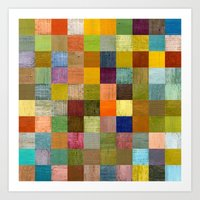 Soft Palette Rustic Wood Series lll Art Print