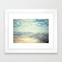 Death Valley Cloud Shadows Framed Art Print