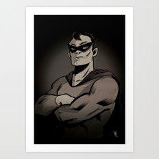 Superhero by night Art Print