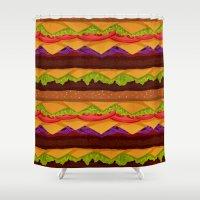 Infinite Burger Shower Curtain