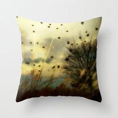 Bird Sunset Throw Pillow