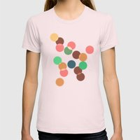 Round bokeh Womens Fitted Tee Light Pink SMALL