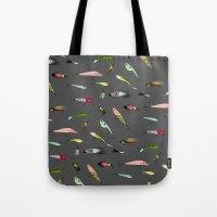 Fishing Baits Tote Bag