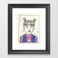 Super Nova Girl Framed Art Print