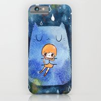 iPhone & iPod Case featuring cat hug by makkuroame