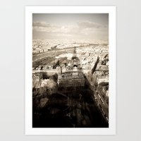 Shadow Over Paris Art Print