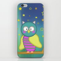 Good Night Little Owl iPhone & iPod Skin