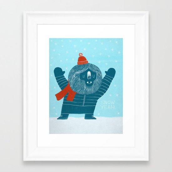 Snow Yeah Framed Art Print