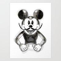 Hey Mickey Art Print