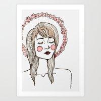 Flower Chain Art Print
