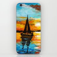 Sunset Sail iPhone & iPod Skin