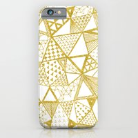 iPhone & iPod Case featuring Golden Doodle triangles by Katy Clemmans