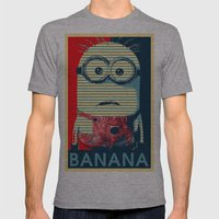 Minion Banana Mens Fitted Tee Athletic Grey SMALL