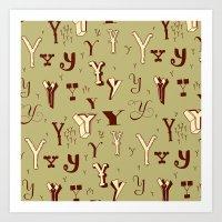 Letter Patterns, Part Y Art Print