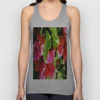 Vibrant Pink And Red Flo… Unisex Tank Top