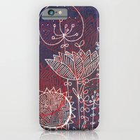 iPhone & iPod Case featuring night flowers by Marianna Tankelevich