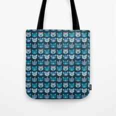 Cute Bear Faces Pattern Tote Bag