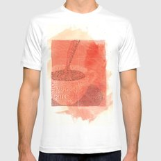 WakeUp! White SMALL Mens Fitted Tee