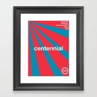centennial//single hop Framed Art Print