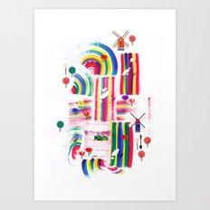 Twolips Art Print