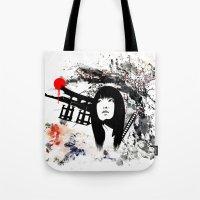 Japanese Geisha Warrior Tote Bag
