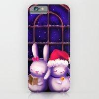 Chubby bunnies at christmas night iPhone 6 Slim Case