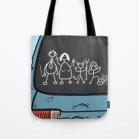 Honest Stick Figure Fami… Tote Bag