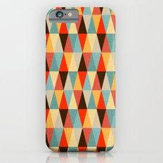 Red & Brown Geometric Triangle Pattern iPhone 6 Slim Case