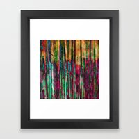 Colored Bamboo Framed Art Print