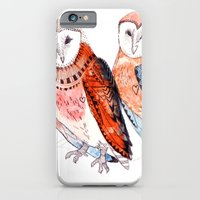 iPhone & iPod Case featuring LOVE owls by Michelle Pegrume