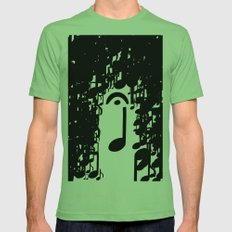 Musical Rain Mens Fitted Tee Grass SMALL