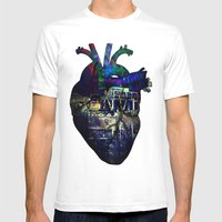 Denver In A Glitched Hea… Mens Fitted Tee White SMALL