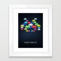 invader boss Framed Art Print