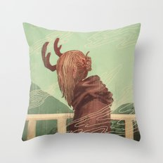 Last Year's Antlers Throw Pillow