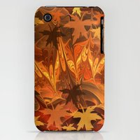 iPhone 3Gs & iPhone 3G Cases featuring Fall impressions by thea walstra