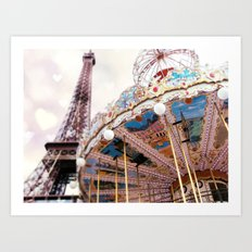 A Pastel Dream, Paris Art Print