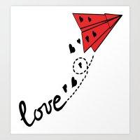 Origami Plane Art Print