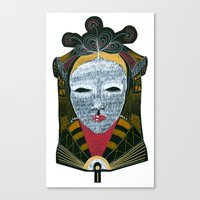 Black MASK Canvas Print