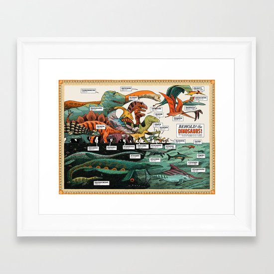BEHOLD! THE DINOSAURS!  Framed Art Print