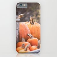 iPhone & iPod Case featuring pumpkins + milk cans by lissalaine