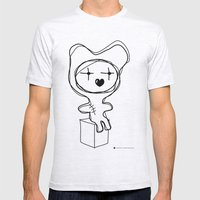The Bear Is Waiting For You Mens Fitted Tee Ash Grey SMALL