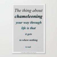 Chameleoning Canvas Print