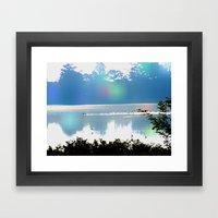 skye lake Framed Art Print