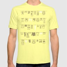 One Fine Day Mens Fitted Tee Lemon SMALL