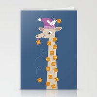 Note Giraffe Stationery Cards