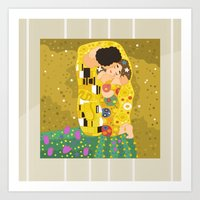 The Kiss (Lovers) By Gus… Art Print