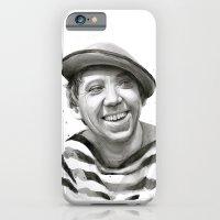 Yuriy Nikulin Portrait Watercolor   Юрий Никулин портрет iPhone 6 Slim Case